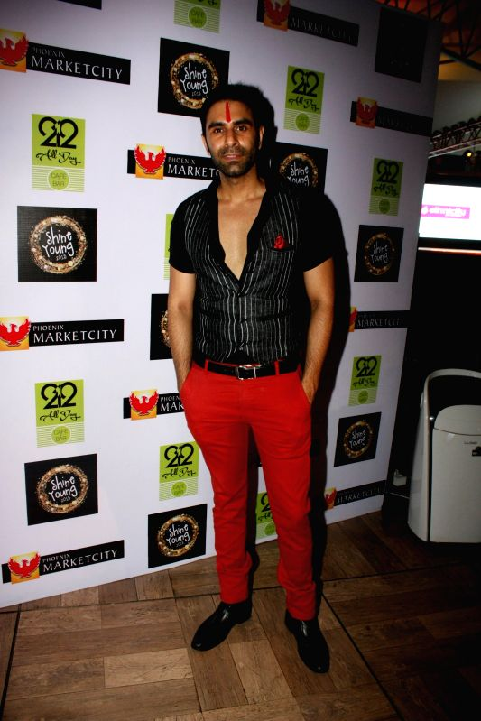 Choreographer Sandip Soparrkar during the grand finale of Shine Young 2015 in Mumbai, on June 21, 2015.