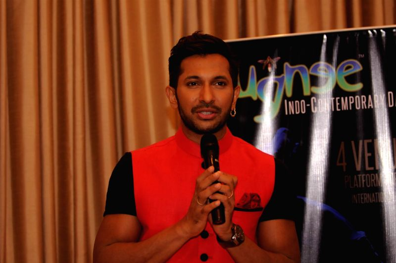 Choreographer Terence Lewis during the launch of five day long contemporary dance festival, JUNGNEE, in Mumbai, on April 23, 2015.