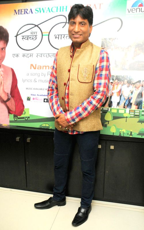 Comedian Raju Srivastav during the music album launch of Mera Sachh Bharat in Mumbai, on Jan. 22, 2015.