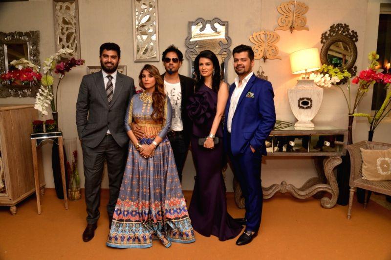 Dhruv Gurwara Falguni & Shane Peacock Divya Gurwara Mayank Soni during the media preview for Bridal Asia show hosted by Divya & Dhruv Gurwara with fashion designers Shane & ...