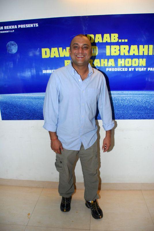Director Samir Karnik during announced a new project, a situational comedy called `Adaab Dawood Ibrahim Bol Raha Hoon` in Mumbai on 13th Jan 2015