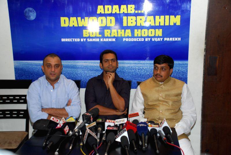 Director Samir Karnik, Shaarib Hashmi and Vijay Parekh during announced a new project, a situational comedy called `Adaab Dawood Ibrahim Bol Raha Hoon` in Mumbai on 13th Jan 2015