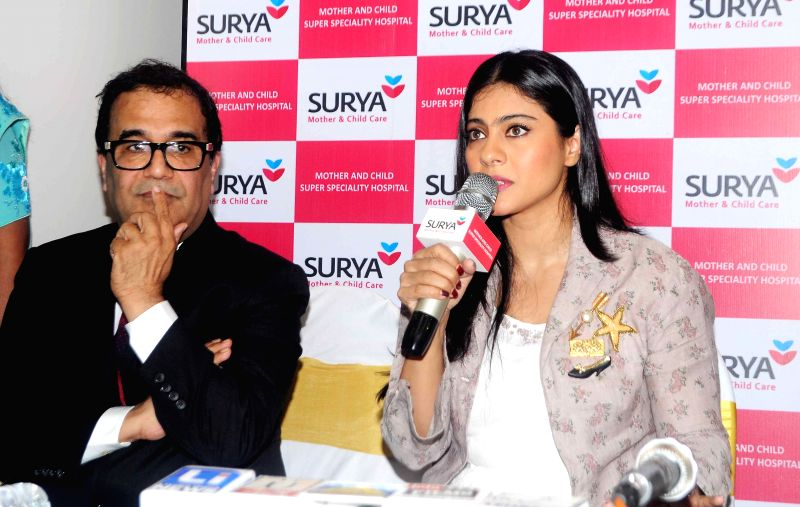 Dr. Bhupendra Avasthi and Kajol Devgn inaugurated 'Surya Mother & Child Care' Hospital at Wakad in Pune on 5th April 2015. - Kajol