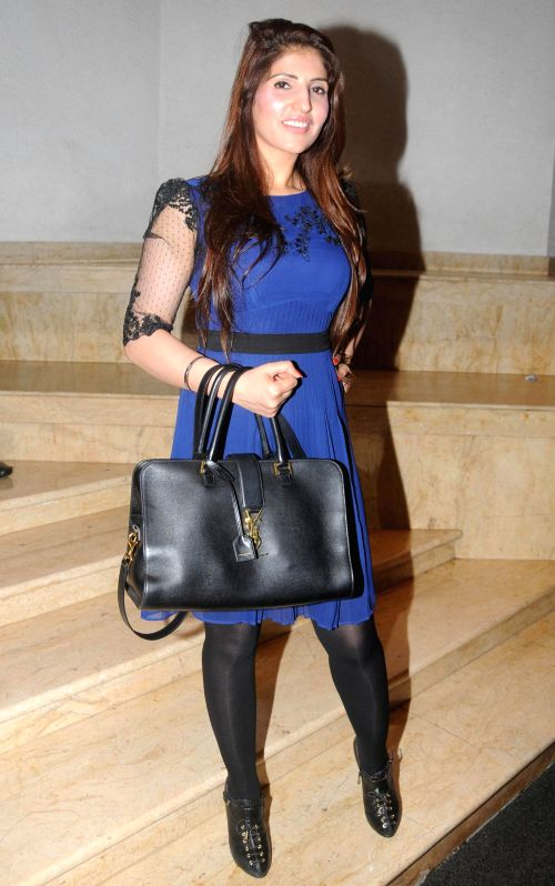 Dr Ruby Tandon during the annual fashion show organized by IITC Institute Global Careers in Mumbai, on Dec. 22, 2014.