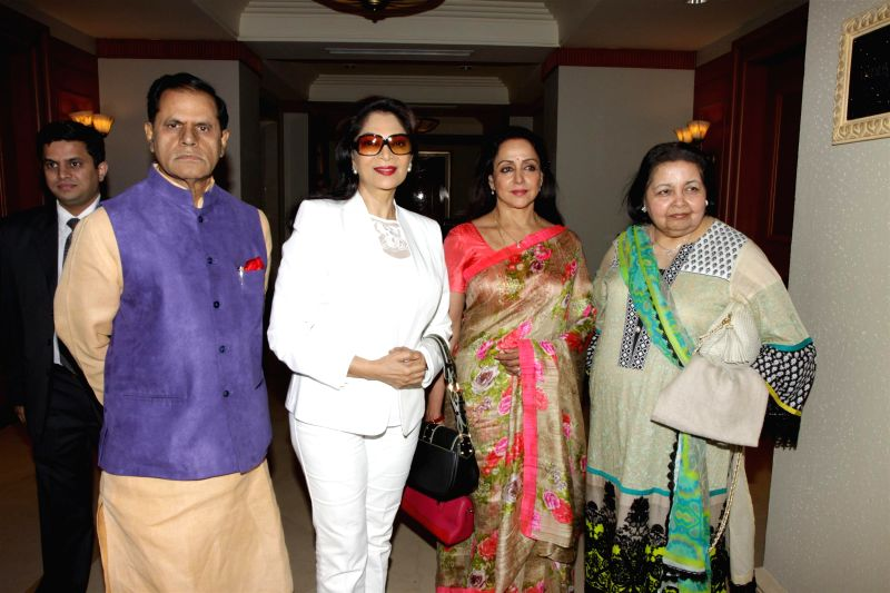 Dr Subbirami Reddy, actors Simi Garewal, Hema Malini and  Pamela Chopra, wife of late Bollywood filmmaker Yash Chopra, during the announcement of 2nd National Yash Chopra Memorial Award, in .. - Simi Garewal, Hema Malini, Pamela Chopra and Subbirami Reddy
