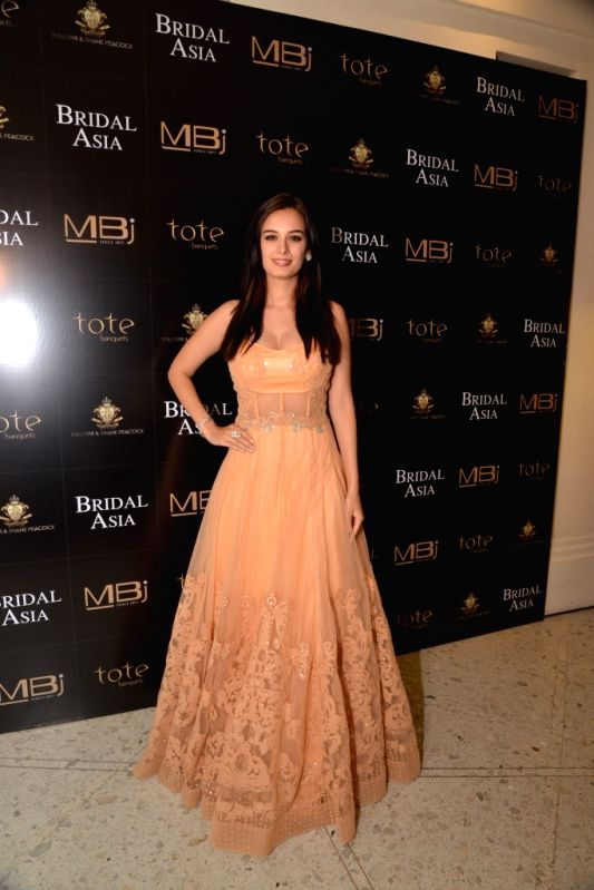 Evelyn Sharma in shane & Falguni Peacock during the media preview for Bridal Asia show hosted by Divya & Dhruv Gurwara with fashion designers Shane & Falguni Peacock in Mumbai on ... - Evelyn Sharma