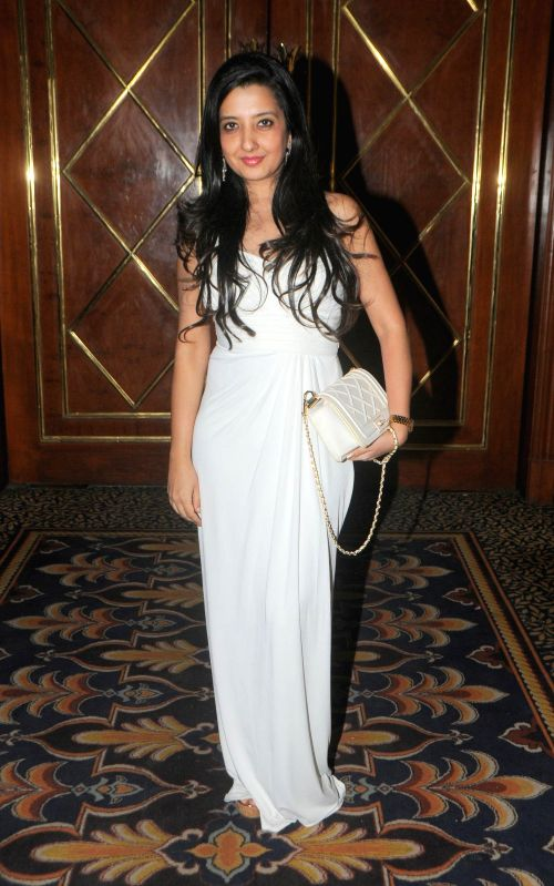 Fashion designer Amy Billimoria during the annual fashion show organized by IITC Institute Global Careers in Mumbai, on Dec. 22, 2014.