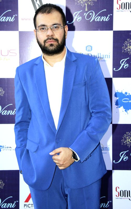 Fashion designer Avesh Dadlani during the launch of his store Je`Vani -The Designer`s Mall in Mumbai, in Mumbai, on Feb 11, 2015.