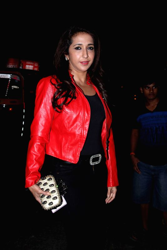 Fashion designer Krishika Lulla during the party hosted by filmmaker Sanjay Leela Bhansali in Mumbai, on Jan 27, 2015. Bhansali organised a party to celebrate his Padma Shri honour.