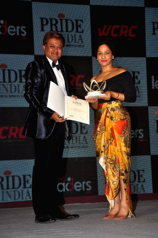 Fashion designer Masaba during Pride of India Awards in Mumbai, on Dec. 16, 2014.