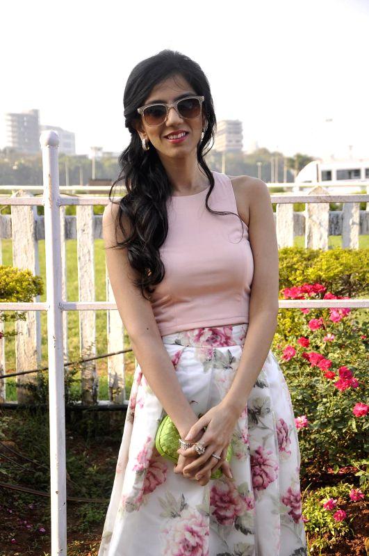 Fashion designer Nishka Lulla during the Hello Classic Cup at Mahalaxmi Race Course in Mumbai on Feb. 8, 2015.