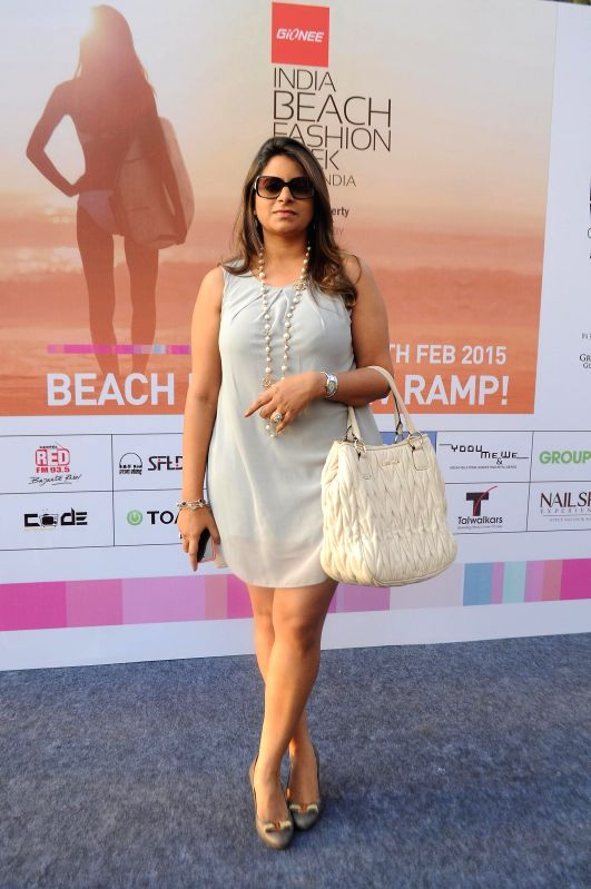 Fashion designer Shouger Merchant Doshi during the India Beach Fashion Week, Goa 2015 press conference in Mumbai, on Jan 21, 2015.