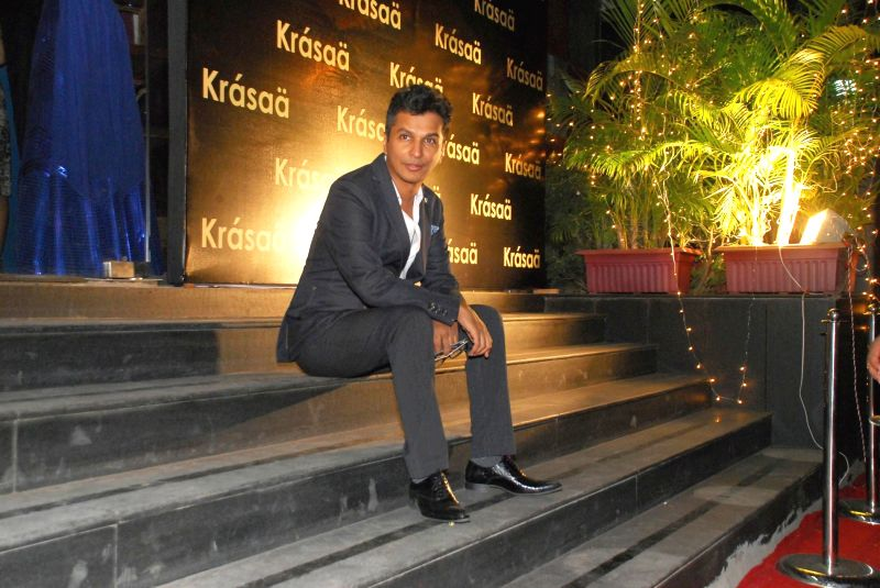 Fashion designer Vikram Phadnis during opening of Vikram Phadnis fashion store Krasaa in Mumbai on Sunday, Dec. 7, 2014.