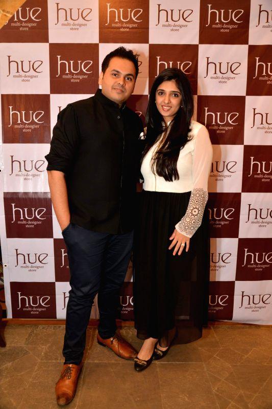 Fashion designers Sonam, Paras Modi at Hue store the festive collection preview in Mumbai on 20th Jan 2015 - Modi