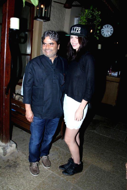 Film maker Vishal Bhardwaj and actress Kalki Koechlin during the success party of film Hunterrr in Mumbai on March 27, 2015. - Kalki Koechlin and Vishal Bhardwaj