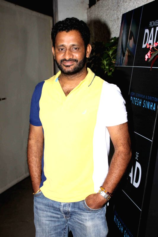 Film sound designer, sound editor and mixer Resul Pookutty during the trailer launch of international film Promise Dad in Mumbai, on April 23, 2015.