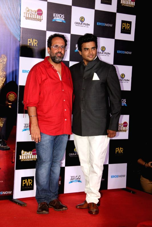 Filmmaker Aanand L. Rai and actor R Madhavan during the trailer launch of film Tanu Weds Manu Returns in Mumbai on April 14, 2015. - Aanand L. Rai