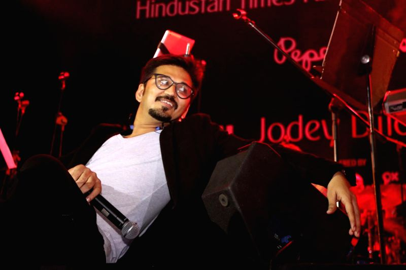 Filmmaker Amit Trivedi during the closing ceremony of Kala Ghoda festival in Mumbai on Feb 15, 2015. - Amit Trivedi
