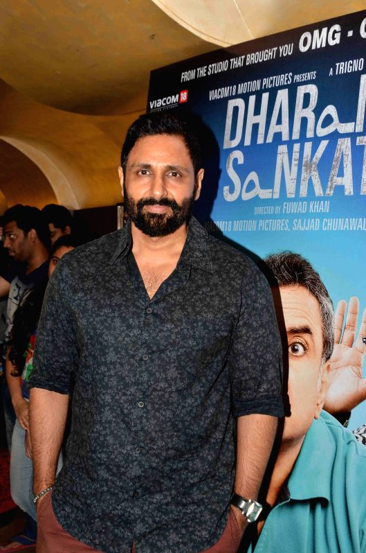 Filmmaker and actor Parvin Dabas during the screening of film Dharam Sankat Mein in Mumbai on April 8, 2015. - Parvin Dabas