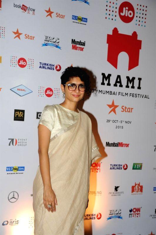 :Mumbai: Filmmaker and MAMI Chairperson Kiran Rao during the closing ceremony of Jio MAMI 17th Mumbai Film Festival, in Mumbai on Nov. 5, 2015. (Photo: IANS).
