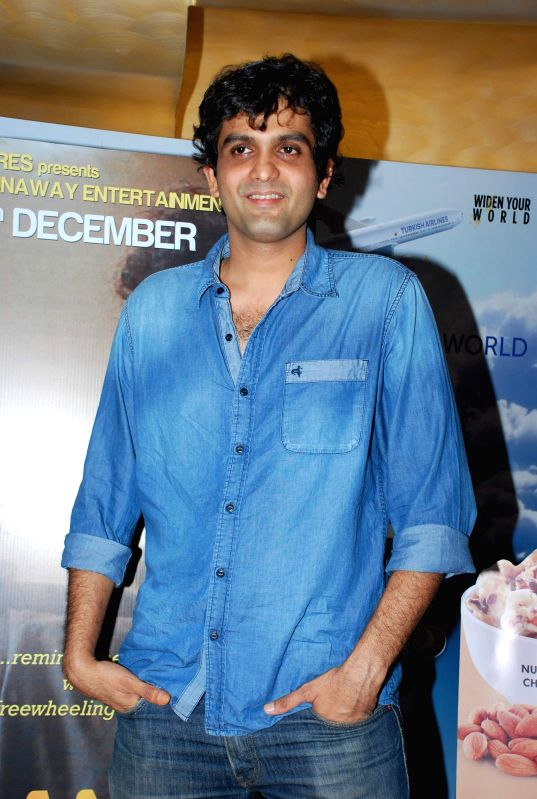 Filmmaker and writer Amit Masurkar during the screening of film Sulemani Keeda in Mumbai on Dec 2, 2014.