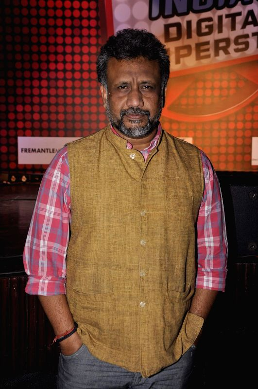 Filmmaker Anubhav Sinha during the launch of new reality show India's Digital Superstar (IDS) by Fremantle Media in Mumbai, on Jan. 19, 2015.