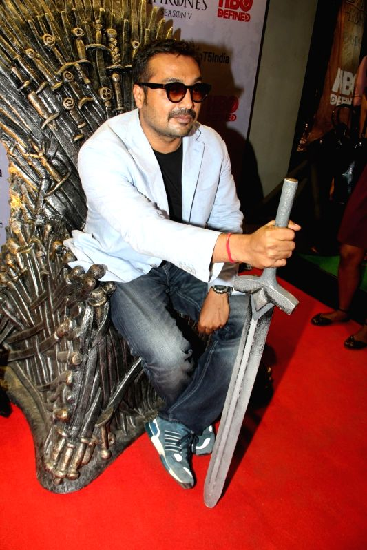 Filmmaker Anurag Kashyap at the premiere of film `Game of Thrones` Season 5 in Mumbai on April 9, 2015. - Anurag Kashyap