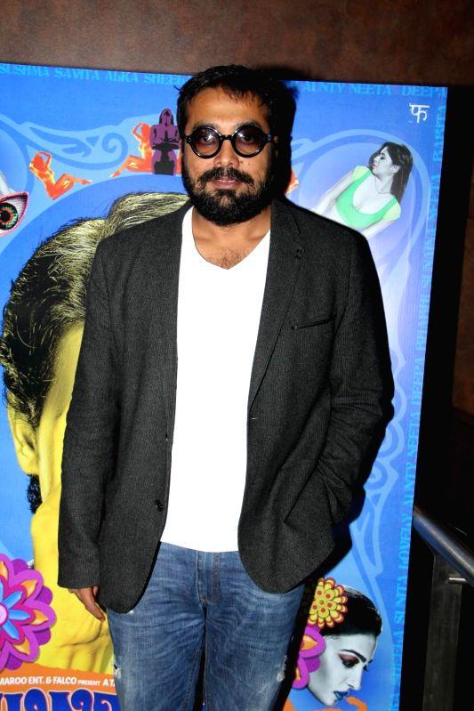 Filmmaker Anurag Kashyap during launch of title song for film Hunterr in Mumbai, on Feb 10, 2015. - Anurag Kashyap