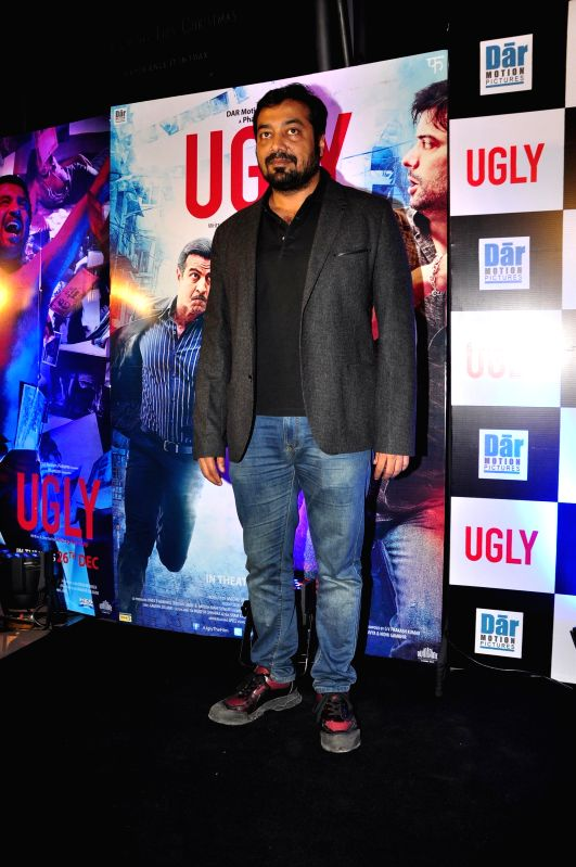 Filmmaker Anurag Kashyap during the premiere of film Ugly in Mumbai on 23, Dec. 2014. - Anurag Kashyap