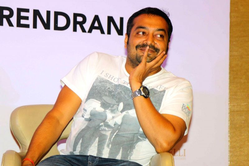 Filmmaker Anurag Kashyap during the launch of senior journalist C P Surendran`s book `Hadal`, in Mumbai on April 10, 2015. - Anurag Kashyap