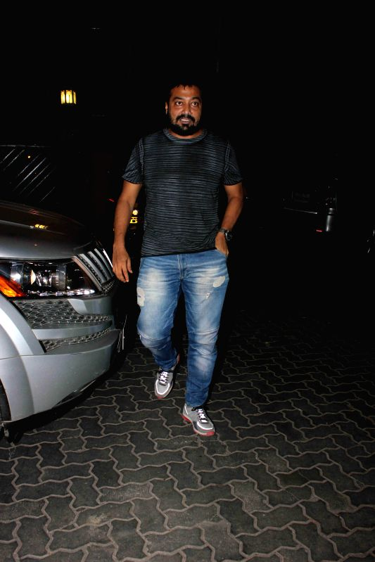 Filmmaker Anurag Kashyap spotted at filmmaker Karan Johar's residence in Mumbai, on Jan. 30, 2015. - Anurag Kashyap
