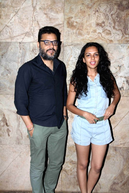 Filmmaker Atul Sabhaewal and actor Bidita Bag during the screening of film In Their Shoes in Mumbai, on March 10, 2015. - Atul Sabhaewal