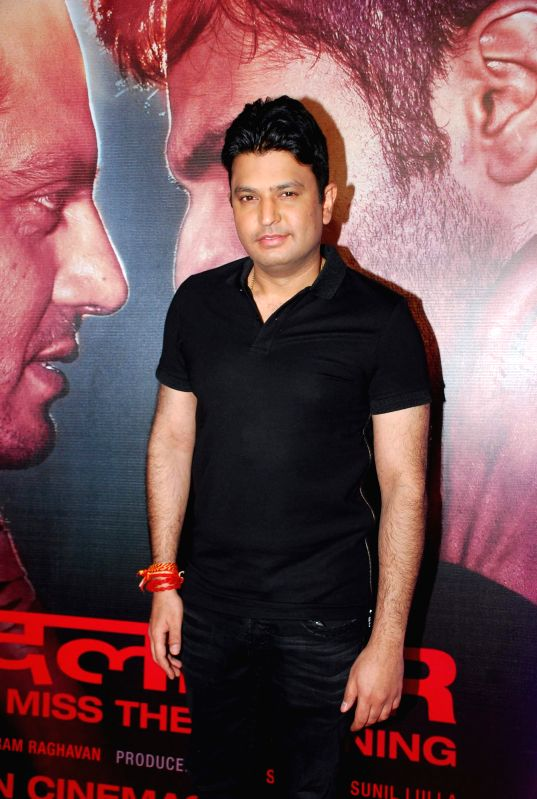 Filmmaker Bhushan during the success party of the film Badlapur in Mumbai on Feb 27, 2015. - Bhushan