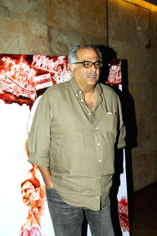Filmmaker Boney Kapoor during the screening of film In Their Shoes in Mumbai, on March 10, 2015. - Boney Kapoor