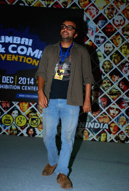 Filmmaker Dibakar Banerjee during a special conversation on his upcoming film Detective Byomkesh Bakshy at Mumbai Film & Comic Con 2014 event, in Mumbai on Dec 21, 2014. The comic con is .