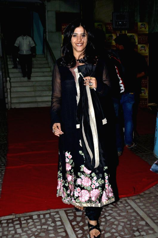 Filmmaker Ekta Kapoor during the Bharat Gaurav Achievement Award 2015 in Mumbai on Jan 24, 2015. - Ekta Kapoor