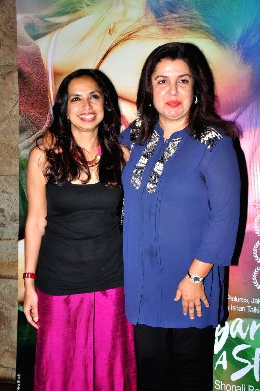 Filmmaker Farah Khan during the special screening of film Margarita With A Straw in Mumbai on 13th April 2015. - Farah Khan