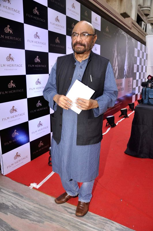 Filmmaker Govind Nihalani during the inauguration of a workshop organized by the Film Heritage Foundation entitled `Film Preservation and Restoration School India 2015` in Mumbai on Feb 22, ... - Govind Nihalani