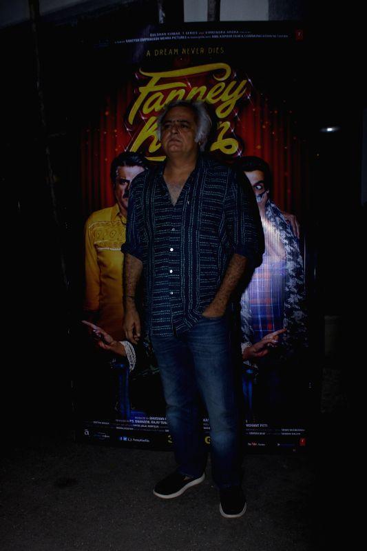 ":Mumbai: Filmmaker Hansal Mehta at the special screening of upcoming film ""Fanney Khan"", in Mumbai on Aug 1, 2018. (Photo: IANS)."