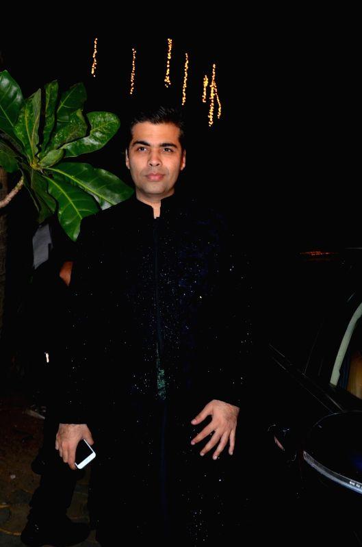 :Mumbai: Filmmaker Karan Johar arrives to attend the bollywood Akshay Kumar`s Diwali party in Mumbai on Nov 9, 2015. (Photo: IANS).