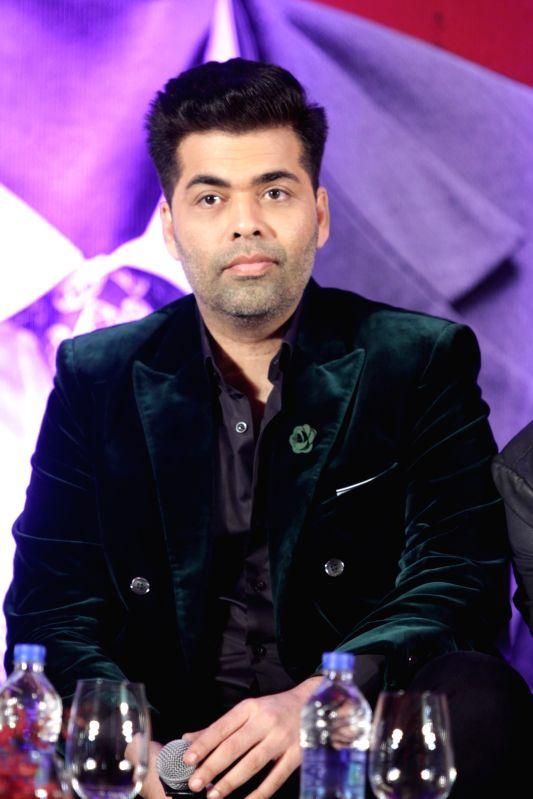 Filmmaker Karan Johar during the trailer launch of film Bombay Velvet in Mumbai, on April 27, 2015.