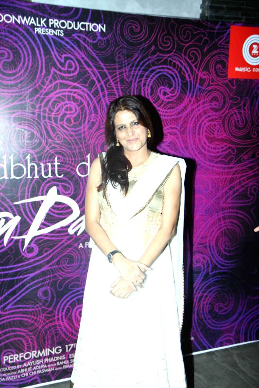 Filmmaker Kiran Phadnis during the first look and music launch of Ek Adbhut Dakshina Guru Dakshina in Mumbai on March 25, 2015. - Kiran Phadnis