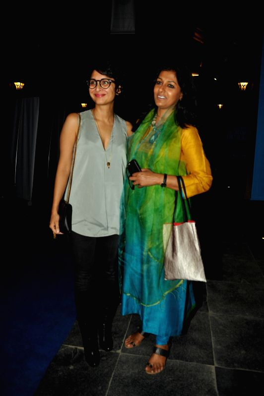Filmmaker Kiran Rao and actor Nandita Das during the opening night of CinePlay Festival Act in Mumbai on Feb 27, 2015. - Kiran Rao and Nandita Das