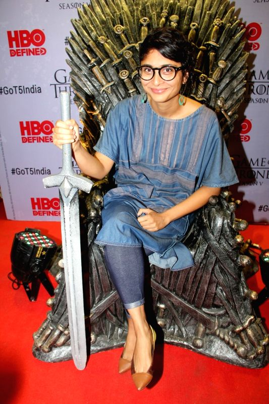Filmmaker Kiran Rao at the premiere of film `Game of Thrones` Season 5 in Mumbai on April 9, 2015. - Kiran Rao