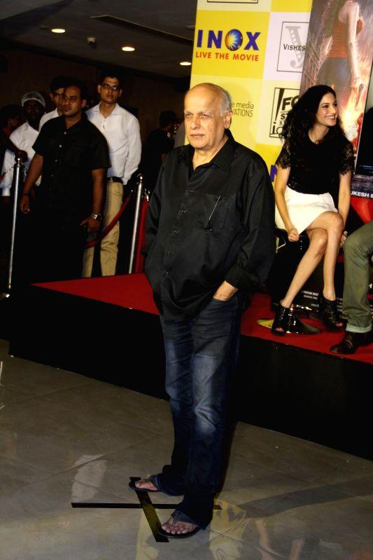 Filmmaker Mahesh Bhatt during the promotion of film Mr X in Mumbai on April 6, 2015. - Mahesh Bhatt