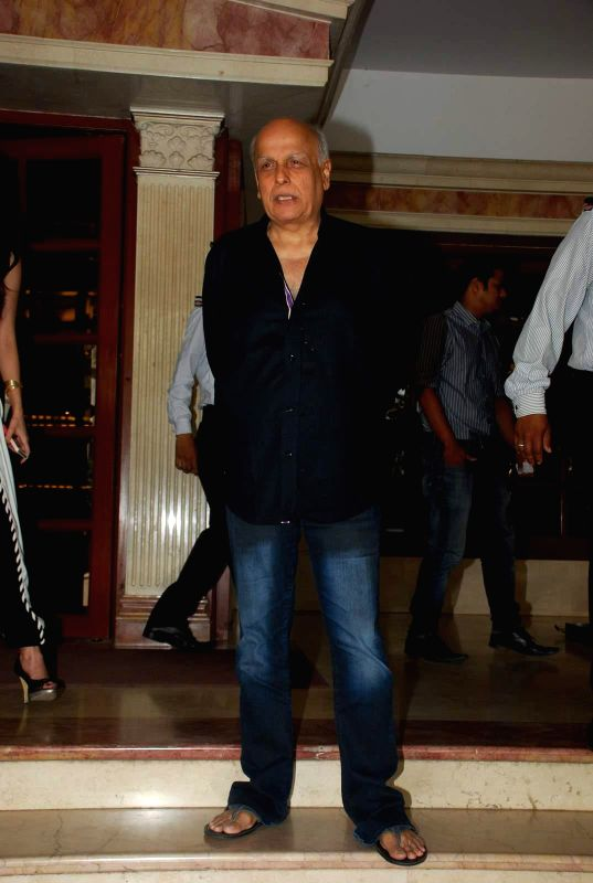 Filmmaker Mahesh Bhatt during the music launch of film Mr. X at Radio City in Mumbai, on March 13, 2015. - Mahesh Bhatt