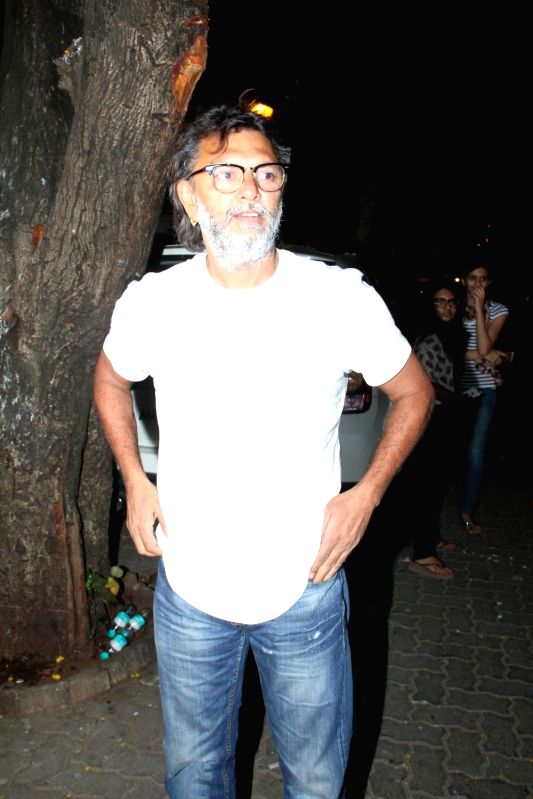 Filmmaker Omprakash Mehra arrive for actor Anil Kapoor`s get-together to share the trailer of the film Dil Dhadakne Do, in Mumbai on 13th April 2015. - Omprakash Mehra
