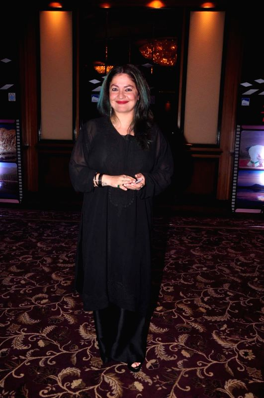 Filmmaker Pooja Bhatt during an event organised by Jammu and Kashmir government to promote J&K as a prime tourist destination and a shooting location for movies, in Mumbai, on April 30, ... - Pooja Bhatt