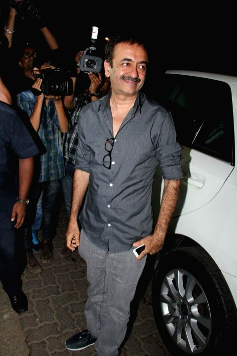 Filmmaker Rajkumar Hirani at the party hosted by Deepika padukone for the succes of film Piku, in Mumbai, on May 18, 2015. - Rajkumar Hirani