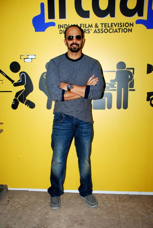 Filmmaker Rohit Shetty during the inauguration of Indian Film and Television Directors Association (IFTDA) office in Mumbai, on Feb. 8, 2015. - Rohit Shetty